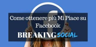 Ottenere più Mi Piace su Facebook