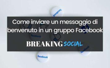 Come inviare un messaggio di benvenuto in un gruppo Facebook