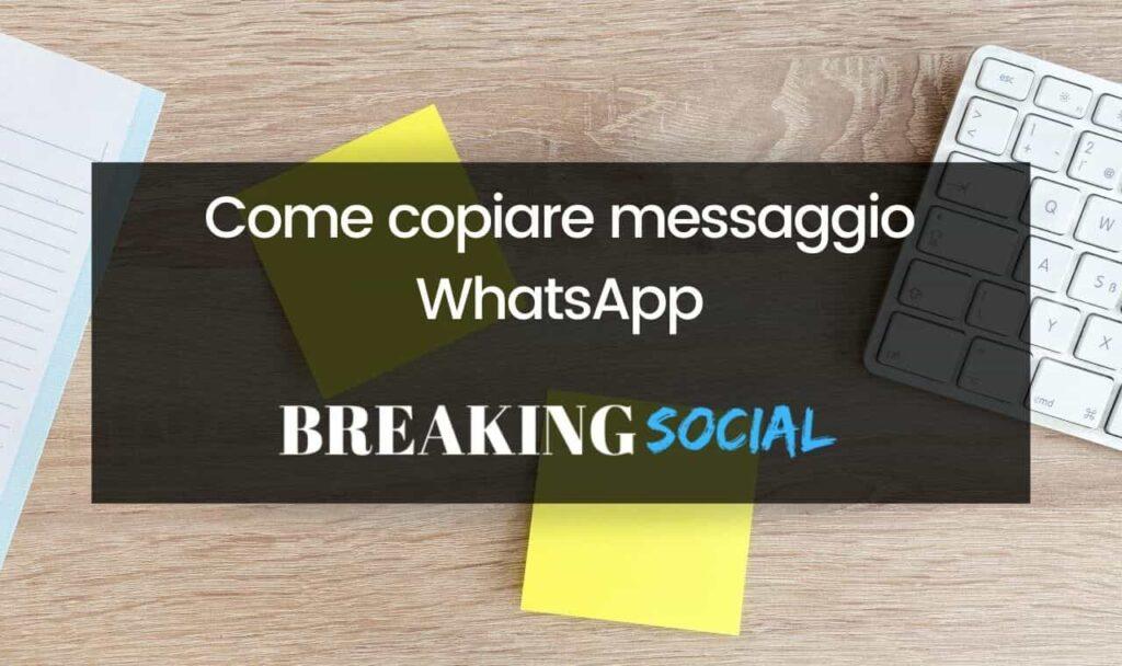 Come fare copia e incolla su WhatsApp