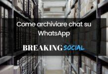 Come archiviare chat WhatsApp