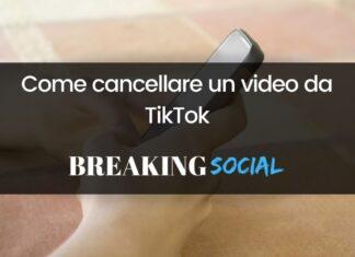 Come eliminare un video da TikTok