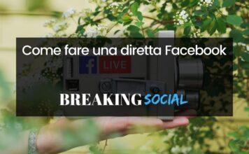 Come fare diretta Facebook