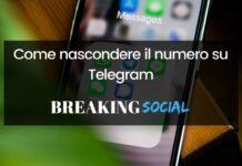 Come nascondere il numero su Telegram