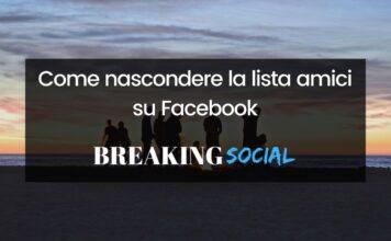 Come nascondere gli amici su Facebook