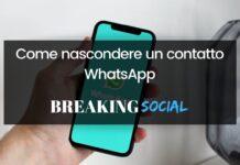 Come nascondere un contatto su WhatsApp