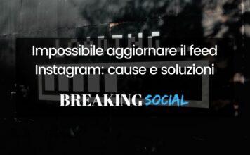 Impossibile aggiornare il feed Instagram