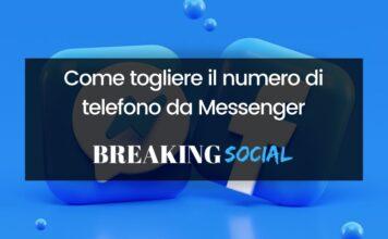 Come togliere il numero di telefono da Messenger