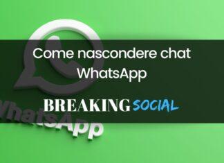 Come nascondere chat WhatsApp