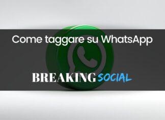Come taggare su WhatsApp
