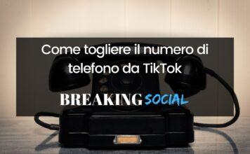 Come togliere il numero di telefono da TikTok