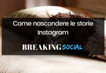 Come nascondere storie Instagram