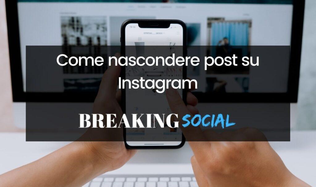Come nascondere post Instagram