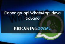 Elenco gruppi WhatsApp